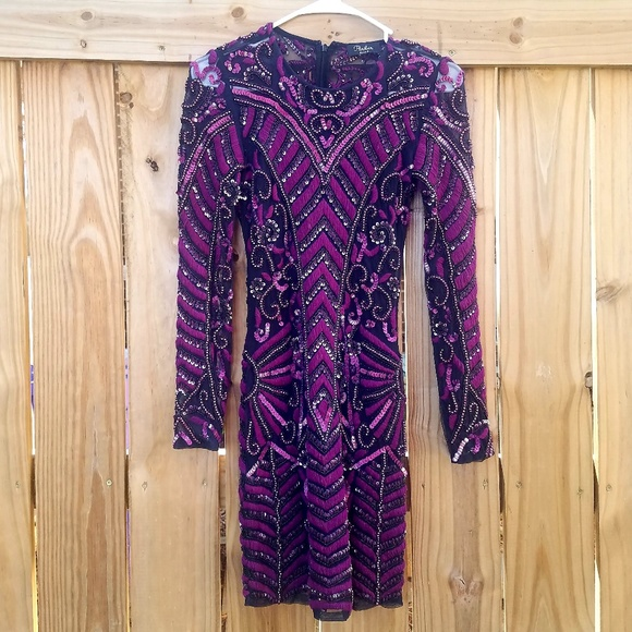 Parker Dresses & Skirts - Parker Black Beaded/Embroidered Long Sleeve Dress